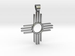 Zia's Sun [pendant] in Polished Silver