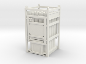 Offshore cylinder transport rack - 1:50 in White Natural Versatile Plastic