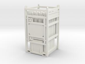 Offshore cylinder transport rack - 1:50 in White Natural Versatile Plastic