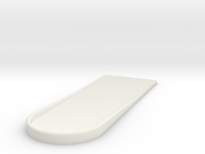 UH-1 Foot Rest 1/7 in White Natural Versatile Plastic
