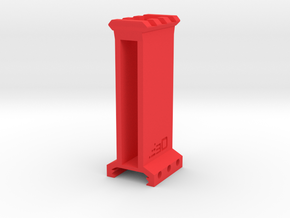 "3"" High 3 Slots Picatinny Riser in Red Processed Versatile Plastic"