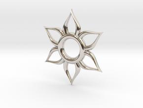 Sun Necklace in Platinum