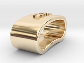 JUAN napkin ring with lauburu in 14K Yellow Gold