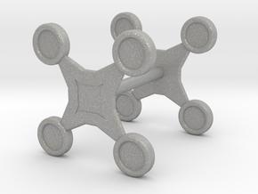 Fidget Spinner Cufflink in Aluminum