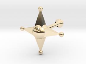 Star Cufflink in 14K Yellow Gold