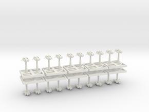 Torpedo Starhawks - Concept C in White Natural Versatile Plastic