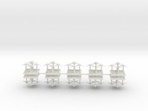 Interceptor Fighters - Concept D  in White Natural Versatile Plastic