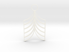 Lined Earring in White Processed Versatile Plastic