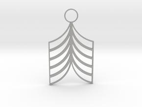 Lined Earring in Aluminum