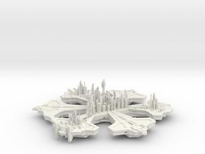 Atlantis 20 Hollow in White Natural Versatile Plastic