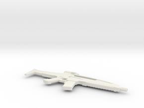 1:12 Miniature XM8 Gun - Heckler & Koch in White Natural Versatile Plastic: 1:12