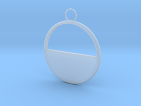 Round Earring in Smooth Fine Detail Plastic