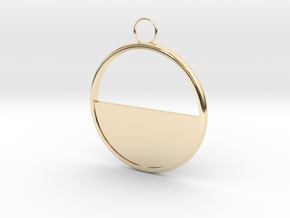 Round Earring in 14K Yellow Gold