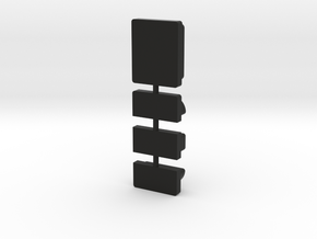 DNA 75 COLOR BUTTONS in Black Natural Versatile Plastic