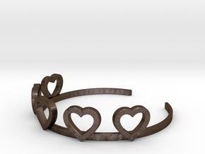 Heart Bracelet in Polished Bronze Steel