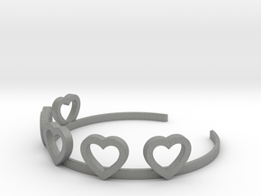 Heart Bracelet in Gray PA12