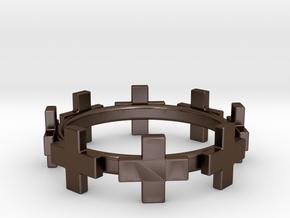Plus Bracelet in Polished Bronze Steel