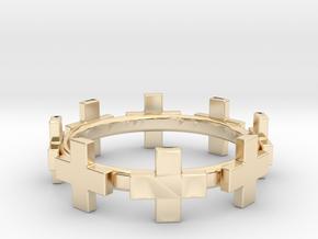 Plus Bracelet in 14k Gold Plated Brass