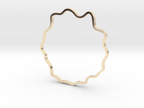 Wavy Bracelet in 14k Gold Plated Brass