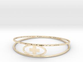 Round Plus Bracelet in 14k Gold Plated Brass