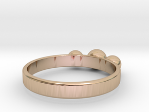 3 Eye Ring in 14k Rose Gold