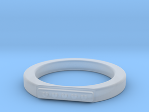 5 Heart Ring in Smooth Fine Detail Plastic