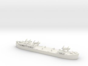 landing ship tank MK2 LST 1/700  2 in White Natural Versatile Plastic