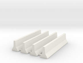 JerseyBarrierGroup15mm in White Natural Versatile Plastic