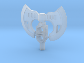 War Axe Double in Smooth Fine Detail Plastic