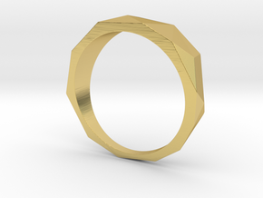 Low Poly Ring in Polished Brass: 8 / 56.75