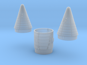 SRB NoseCones 1:48 Pair in Smooth Fine Detail Plastic