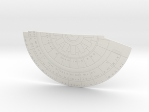 1/1400 USS Ambassador proposal Right Lower Saucer in White Natural Versatile Plastic