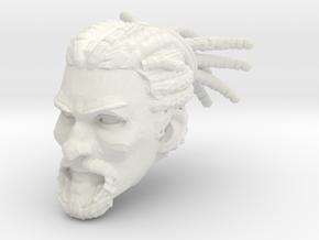 Zayd Head 1 in White Premium Versatile Plastic