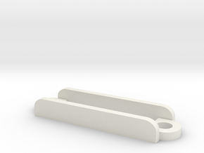 [B8] Receiver Strap Bracket in White Natural Versatile Plastic