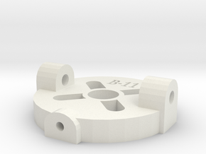 [B11] Swivel Motor Mount Plate in White Natural Versatile Plastic