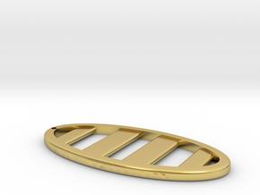Ellipse Keychain in Polished Brass