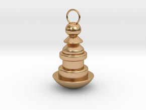 Weird shaped Keychain in Polished Bronze