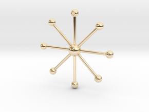 Star Keychain in 14k Gold Plated Brass