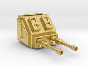 Turret Head in Polished Brass