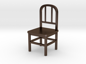 Chair in Polished Bronze Steel