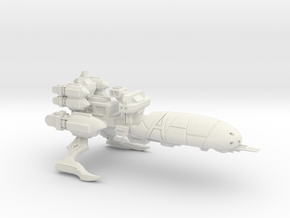 Torture Class Cruiser - Concept A in White Natural Versatile Plastic