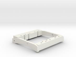 TGH C1-V1 Dual Servo Mount in White Natural Versatile Plastic
