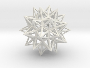 Stellated Truncated Icosahedron in White Natural Versatile Plastic