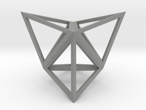 Stellated Tetrahedron in Gray PA12