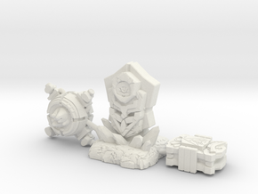 Forged To Fight Artifact 3-Pack in White Natural Versatile Plastic: Small