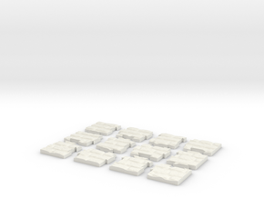 "Jigsaw ""The wall"" (12 pieces) in White Natural Versatile Plastic"