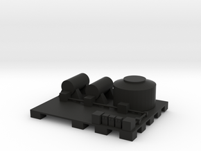 Docks fuel depot in Black Natural Versatile Plastic: 1:300