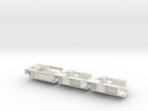 7203C • 1×British M14 and 2×M9A1 Half-track Bodies in White Natural Versatile Plastic