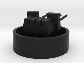 28mm Quad in Black Natural Versatile Plastic: 1:300