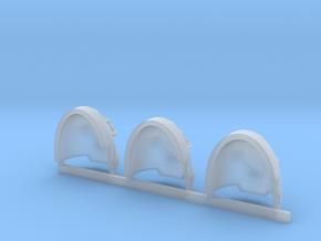 Bonsai Gravus Shoulder pads x3 L #1 in Smooth Fine Detail Plastic